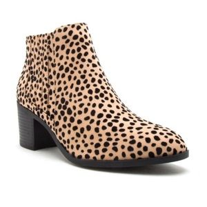 Shoes - Leopard Animal Print Ankle Booties